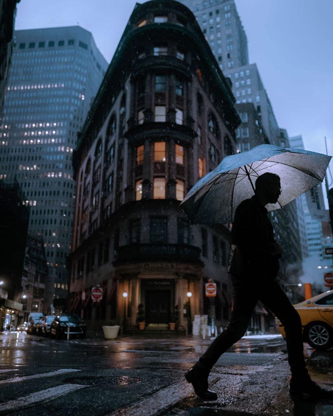 纽约的一个雨天美图